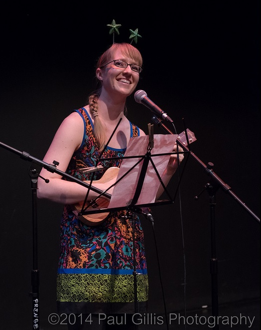 At the 2015 Late Night Fringe Cabaret. Photo by Paul Gillis